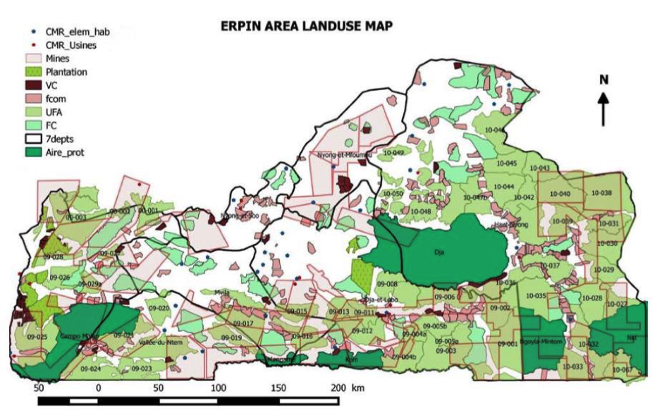 Erpin area landuse map carn